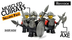 Muscled Cuirass Restock (BrickWarriors - Ryan) Tags: brickwarriors custom lego minifigure weapons helmets armor orc medieval fantasy castle sword axe muscled cuirass pigsnout bascinet