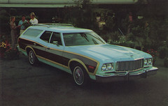 1976 Ford Gran Torino Squire Wagon Promotional Postcard from Barile Ford - Valparaiso, Indiana (Shook Photos) Tags: postcard postcards chrome chromepostcard chromepostcards chromelithograph car cars auto automobile automobiles barileford ford valparaisoindiana valparaiso indiana portercounty cardealer cardealership dealership