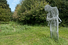 110913 Eype 06 (hoffman) Tags: art outdoors sculpture publicart gretaberlin figure figurative artistic creative artwork countryside woodland statue 181112patchingsetforimagerights