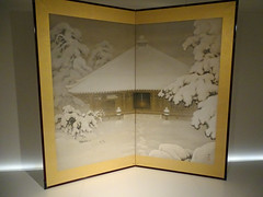 Folding screen withe Shinto temple in snow / Kawamata Koho (Beyond the grave) Tags: art foldingscreenwithashintotempleinsnow kohokawamata kawamata koho amsterdam rijksmuseum netherlands holland