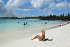 Kuto Beach (Seventh Heaven Photography *) Tags: kuto beach sand people persons isle pines new caledonia south pacific islands nikon d3200 sky blue water sea trees