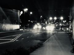 Cars Passing During the Night (makaila3) Tags: nightlife blackandwhite cars nightphotography night