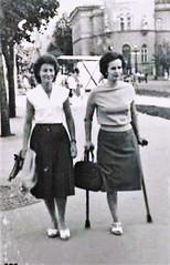 1960s monopede (jackcast2015) Tags: amputee amputeewoman amputeelady disabledwoman disabledladies crippledwoman crippled crippledlady crutch crutches monopede