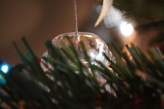 Bokeh Christmas Ornament (blackunigryphon) Tags: bokeh depthoffield decor decorations christmas christmastree telephoto experimental