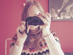 new baby 📷 (Anna M. Sky) Tags: mirrorselfie selfportrait vintage newcamera retro olympus