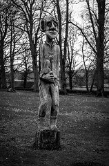 Bowes Museum Park . (wayman2011) Tags: colinhart fujifilmxe2s fujifilmxf50f2 lightroom5 wayman2011 bw mono rural sculptures parks pennines dales teesdale barnardcastle countydurham uk