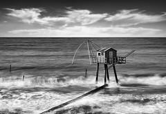 Fishing-Carrelet (petefoto) Tags: fishing france cabin sea cloud walkway waves tide tharon loire filters nikon d 810
