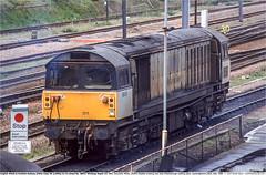 58011GB_Peterborough_160498 (Catcliffe Demon) Tags: railways uk class58 brel ukrailimages1998 diesellocomotive ews englishwelshscottishrailway ewsrailway breltype5 mainlinefreight rosters cambridgeshire