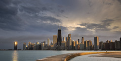 Chicago sky;ine..... (Kevin Povenz Thanks for all the views and comments) Tags: 2016 april kevinpovenz chicago skyline skyscrapers illinios midwest evening eveningsky sigma1020 canon7dmarkii pier clouds dusk lakemichigan water reflection city sky skyscraper building sunset