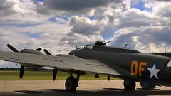 Boeing/Vega B-17G-105-VE Flying Fortress heavy bomber, 1945 - Duxford Aerodrome, England. (edk7) Tags: nikond300 edk7 2010 uk england cambridgeshire duxford duxfordaerodromeqfoegsu imperialwarmuseum iwm b17charitabletrust boeingb17g105veflyingfortress burbankcalif1945 lockheedvegacn8693 unitedstatesarmyairforces usaafsn4485784 dfa gbedf fourengine heavybomber secondworldwar worldwartwo worldwarii worldwar2 wwii ww2 propellor propeller plane airplane military warplane aviation aircraft wrightcycloner182097ninecylindersinglerowsupercharged2988litreradial1200hp cloud sky machinegun cockpit antenna dorsalturret ventralturret runway tarmac grass tree