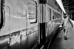 (s@brina) Tags: train man street travel kolkata india