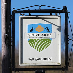 The Grove Arms pub sign Ludwell Wiltshire UK (davidseall) Tags: the grove arms pub pubs sign signs inn tavern bar public house houses ludwell shaftesbury wiltshire uk gb british english village hanging