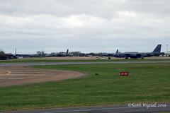 4 x Boeing B-52H  USAF (Keith Wignall) Tags: ffd fairford b52 b52h usaf unitedstatesairforce