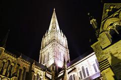 Salisbury by night. The Cathedral spire (Andrey Sulitskiy) Tags: salisbury uk england wiltshire