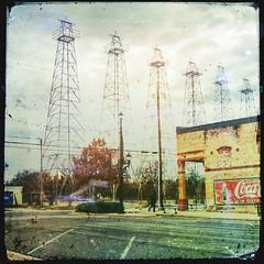row of stars (jssteak) Tags: canon texas kilgoretx town derrick store sotdrink brick aged vintage