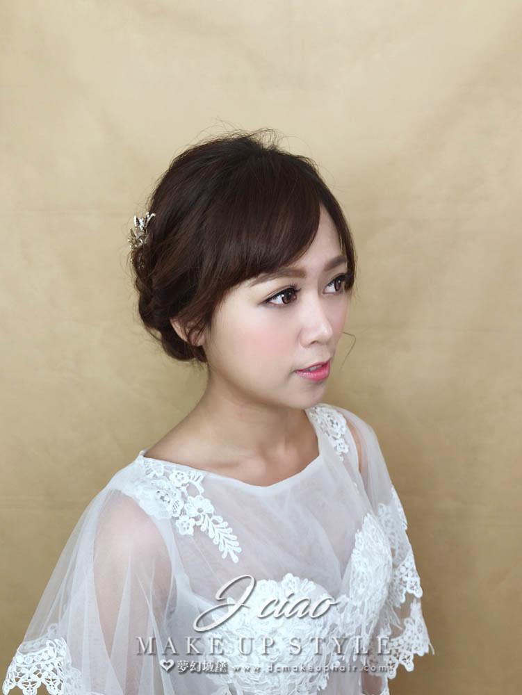 【新秘婕喬】新娘造型創作 / 甜美低盤髮