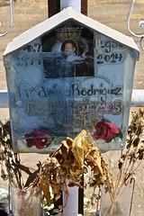 Roadside Memorial, Tulare, CA (Robby Virus) Tags: tulare california ca roadside memorial intersection eliazar torres rodriguez rodrio car accident automobile death deadly