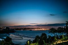 Good night A Coruna (mripp) Tags: vintage retro old nightfall spain espagna corona nokton voigtlander night blue sky evening