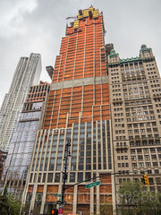 25 Park Row Condominium Tower (under construction), City Hall Area, Lower Manhattan, New York City (jag9889) Tags: 2018 20181117 architecture beekman building cityhall construction facade financialdistrict house lowermanhattan manhattan ny nyc newyork newyorkcity outdoor residential skyscraper tower usa unitedstates unitedstatesofamerica jag9889
