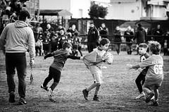 40328 - Tackle (Diego Rosato) Tags: nikon d700 70200mm sigma rawtherapee bianconero blackwhite rugby club latina tackle placcaggio