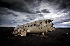 Grounded (Robgreen13) Tags: iceland solheimasandur douglassuperdc3 wreckage aircraft usnavy blackbeach isolated landscape