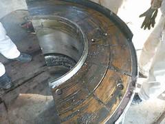 Resize of P1360905 (OpalStream) Tags: rudder marine vessel repair works overhauling workshop measurements filler gauge dirt