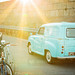 Austin A35 van, The Scilly Isles, UK