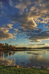 Home (ROPhoto77) Tags: autumn autumncolors newengland maine damariscottariver clouds river riverscape rocks grass trees