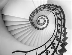 - Schnecken-Poesie - (antonkimpfbeck) Tags: hamburgrotterdam2018 architektur art treppenauge wendeltreppe staircase monochrome bw fujifilm