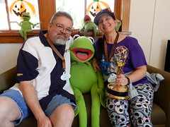 "Tracey, Scott and Kermit with an Emmy • <a style=""font-size:0.8em;"" href=""http://www.flickr.com/photos/28558260@N04/45079013484/"" target=""_blank"">View on Flickr</a>"
