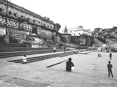 Banaras (himanshu_07) Tags: banaras varanasi india ganga river outdoor ghat building castel history old black eve cricket street