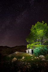 Nocturna (Armytitan) Tags: stars sky night noche estrellas nocturno nocturna longexposure largaexposicion canon 2470mm 5d tree lights