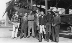 air mail collection image (San Diego Air & Space Museum Archives) Tags: sanfrancisco crissyfield hangar airmailpilots airmailpilot usairmail airmail aviation aircraft airplane biplane dehavilland dehavillanddh4 dh4 libertyengine libertyl12 liberty12