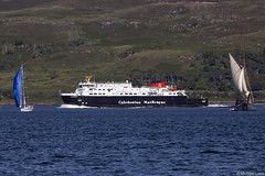 The Caledonian MacBrayne ferry MV Clansman, IMO 9158953; Sound 0f Mull, Inner Hebrides, Scotland (Michael Leek Photography) Tags: caledonianmacbrayne ferry roro rollonrolloff soundofmull mull island islands scotland scottishcoastline scottishlandscapes scotlandslandscapes scottishshipping westcoastofscotland westernscotland workingboat passengervessel passengership yacht schooner sailingship oban isleofmull tobermory ardnamurchan thisisscotland scotlandsbeauty scotlandsislands michaelleek michaelleekphotography