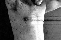torso&wall (Matter is Spirit) Tags: male nude torso man naked chest beard armpit body spirit fine art artistic erotic