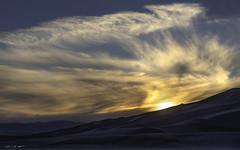 Exit Music (courtney_meier) Tags: colorado fall greatsanddunesnationalpark landscape nationalpark usnationalpark autumn cloud clouds dunes evening sand sanddunes shadows sky sunlight sunset twilight