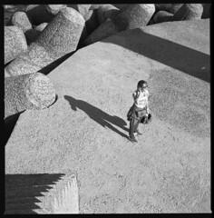 along the pier VI (ukke2011) Tags: hasselblad503cw planarcfe8028 rolleirpx25 rodinal 150 film pellicola analog analogico 120 square 6x6 mediumformat bw blackandwhite monochrome bianconero portrait pier molo