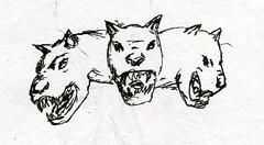 sc0285 (Josh Beck 77) Tags: drawing doodle sketch cerberus fantasycreature animal mythicalcreature