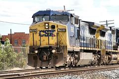 CSX7692-C40-8W_Plymouth-MI_07-15-2007c (Count_Strad) Tags: railroad track tracks emd ge gp382 c408w es44dc gp9r c449w sd40t2 plymouth melvindale northville mi michigan csx