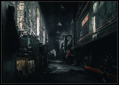 Marley Hill (Blaydon52C) Tags: tanfield railway marley hill durham coal industry oil dark steam low light shadows contrast