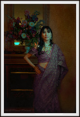 Purple Indian Dress (A Mavica Moment) Tags: indian traditional dress purple glitter gold fashion