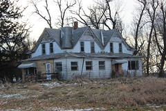 House Of Six Gables (ballclub40- Picking up the pieces.....) Tags: ruralamerica iowa abandoned derelict farmhouse