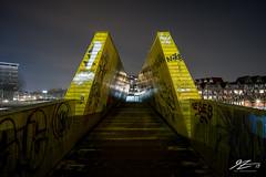 Grim Oz (TVZ Photography) Tags: luchtsingel graffiti cityscape city rotterdam netherlands holland night evening longexposure lowlight sonya7riii zeiss loxia 21mm