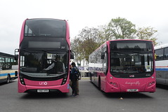 UB 287 and 365 @ Showbus 2018 - Donington Park (ianjpoole) Tags: uno buses alexander dennis enviro 400mmc yx67vfr 287 volvo b8rle mcv evora lf18awp 365 donington park for showbus
