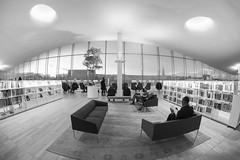 Oodi (Antti Tassberg) Tags: kirjasto arkkitehtuuri 15mm fisheye oodi bw hdr kaupunki helsinki suomi rakennus