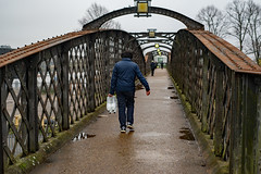 Long Walk Home: Welwyn Garden City (Mike Cook 67) Tags: welwyngardencity hertfordshire footbridge steel construction exit entry civil engineering interest streetphotography transport urban cold nikond750 digital eastanglia urbanpictureofbritain doorsportals doorwayspassages doors portals doorways passages portale türen portail