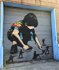 Toy Soldiers by IcyandSot (wiredforlego) Tags: graffiti mural streetart urbanart aerosolart publicart shutter stencil newyork nyc ny icyandsot