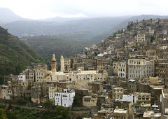 View Over The City Of Ibb, Yemen (Eric Lafforgue) Tags: arabia arabiafelix arabianpeninsula architectural architecture building colourpicture day hill historical history horizontal housing ibb landscape minaret mosque mountain nopeople placeofinterest town traditionalconstruction traditionalhouse village yemen img0569