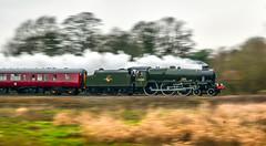 Bahamas at Lea Marston (robmcrorie) Tags: 45596 steam royal scot class bahamas tyseley keighley worth valley railway lea marston warwickshire nikon d850 panning train rail railfan loco