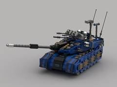 o7 Commando Battle Tank (Rendered) (demitriusgaouette9991) Tags: lego ldd military army armored powerful tank turret railgun vehicle future gunner whitebackground deadly